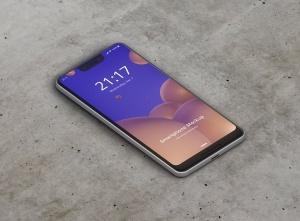谷歌智能手机Pixel 3 XL屏幕预览样机模板 Smart Phone Mockup Pixel 3 XL插图9