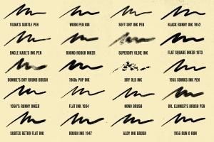 历史插画名家手绘风格Procreate绘画笔刷 Auld Inks for Procreate插图5