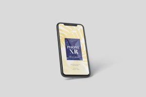iPhone XR智能手机多角度屏幕预览样机模板 Phone XR Mockup插图1