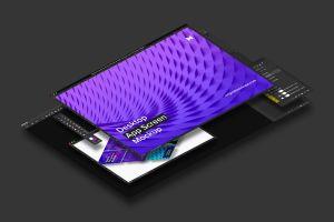桌面应用程序APP界面设计效果图样机02 Desktop App Screen Mockup 02插图5