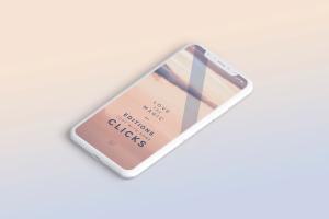 多个iPhone X智能手机屏幕等距平铺视觉样机模板 Clay iPhone X Mockup 02插图8