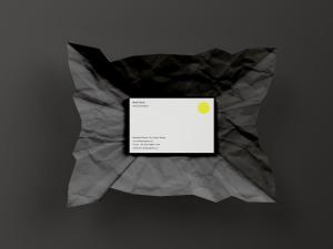 企业名片设计效果图预览样机模板 PSD Business Card Mockup插图1