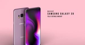 三星Galaxy S9安卓手机样机模板 Samsung Galaxy S9 Mockup插图1