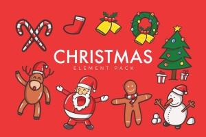 圣诞节主题元素矢量图形设计素材 Christmas Vector插图1
