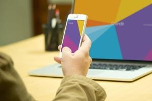 真实使用场景iOS设备样机模板 iOS Devices Mockups插图7