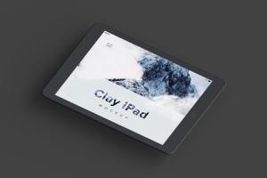 iPad平板电脑屏幕界面设计图样机模板02 Clay iPad 9.7 Mockup 02插图5