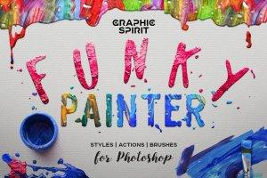 油画风格PS图层样式 Oil Painting Photoshop Layer Styles插图1