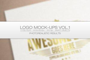 11款 Logo 智能对象图层样机 Logo Mock-ups Vol.1插图1