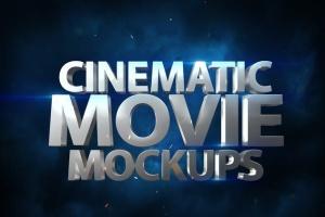 大气电影3D动画特效标字体PS样机模板v1 Cinematic 3D Movie Mockups V1插图7