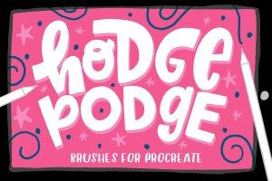 人物手绘必备Procreate笔刷 Hodge Podge Brushes for Procreate插图1