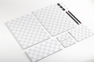企业品牌VI设计办公用品等距样机01 Stationery Mockup 01插图2