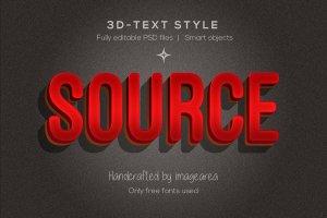 创意3D文本图层样式 Amazing 3D Text Styles插图7