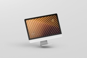 iMac电脑桌面屏幕样机模板 Desktop Screen Mockup插图14