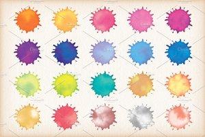 20种水彩文本图层样式 Watercolor Text Styles插图2
