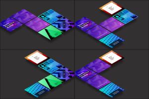 方形自媒体社交宣传设计效果图透视样机03 Square Perspective Mockup 03插图5