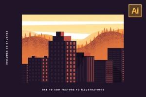 30款点画效果设计AI笔刷 Stipple Brushes For Illustrator插图(4)