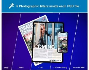 杂志印刷设计/杂志APP设计图预览样机样机 Abstract Magazine App Mouckup插图8