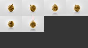 闪闪发光圣诞装饰球样机模板 Glitter Christmas Ball Mockup插图14