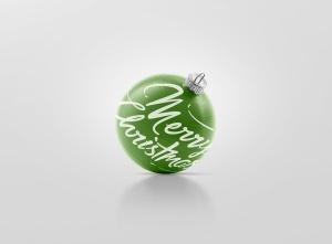 闪闪发光圣诞装饰球样机模板 Glitter Christmas Ball Mockup插图10