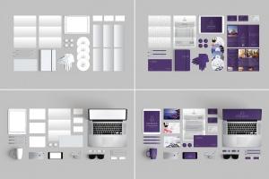 10个时尚高端办公品牌文具样机VI展示模型mockups插图3