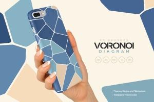 Voronoi不规则多边形几何图案PS笔刷 Voronoi Diagram Photoshop Brushes插图3