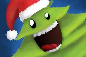 可爱设计风格圣诞树设计PSD分层模板 Christmas Tree插图1