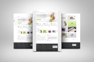 网站UI设计3D展示图样机模板 3D Web Presentation Mockup (V1)插图1