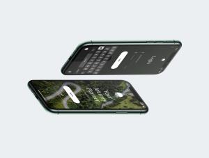 一流设计素材网下午茶:等距iPhone 11 pro场景展示样机插图5