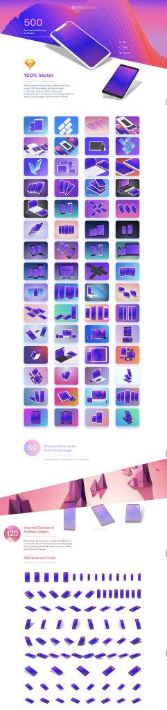 一流设计素材网下午茶:超级漂亮的苹果安装UI设计展示模型Mockups下载[iPhone X,Android,iPad,Sketch,1.32GB]插图