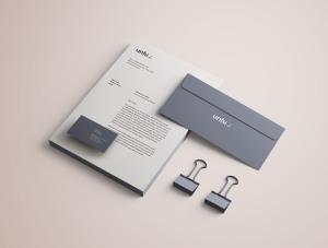 高端品牌VI设计办公用品预览样机PSD模板 Full Branding & Identity Mockup PSD插图6