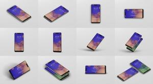 谷歌智能手机Pixel 3 XL屏幕预览样机模板 Smart Phone Mockup Pixel 3 XL插图15