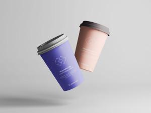 7个咖啡纸杯定制外观设计效果图样机模板 7 Coffee Cup Mockups插图6