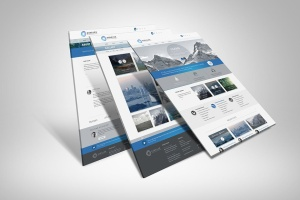 网站UI设计3D展示图样机模板 3D Web Presentation Mockup (V1)插图2