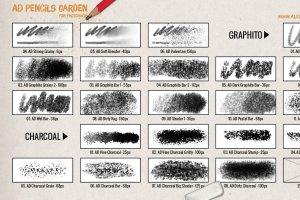 超级ps铅笔笔刷大合集 The Pencils Garden插图6
