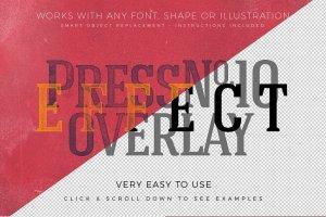 复古活版印刷效果图层样式 Vintage Letterpress Effects Vol.2插图13