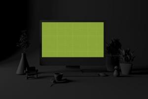 酷黑办公场所MacBook Pro设备样机 Dark Mac Pro插图12