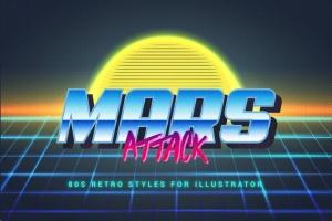 80年代复古插画风格PS字体样式 for AI 80s Retro Illustrator Styles插图10