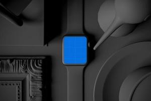 时尚深色Apple智能手表样机模板 Dark Apple watch插图14