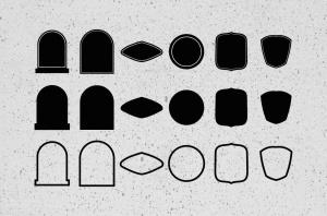 30+热带主题纹身/徽章矢量图形图案素材 30++ TROPICAL TATTOO VECTOR & BADGES插图4