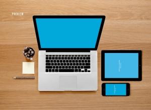 响应式网页设计预览样机套件 Responsive Mock-Up Web Display Kit插图15