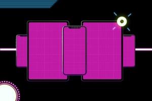 霓虹灯背景iPhone XS & iPad Pro样机模板 Neon iPhone XS & iPad Pro插图10