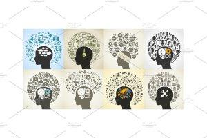 24个抽象头脑风暴插图集 Circle a head插图3