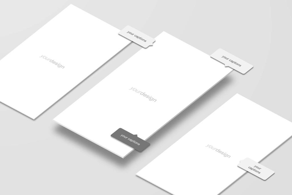 APP应用界面设计立体效果图样机 Perspective App Screen Mockup插图