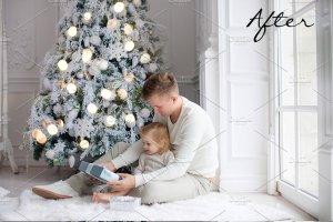 圣诞灯饰光影照片处理图层样式 Christmas Overlays for Photographers插图3
