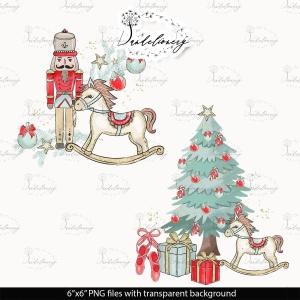 圣诞节胡桃夹子矢量手绘设计素材 Christmas Nutcracker design插图2