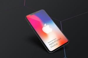 黑色iPhone X设备UI设计展示样机套装 iPhone X Mockup Set插图3