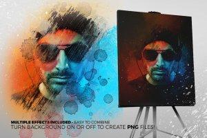 艺术照片智能对象图层PSD模板 Art Photo Template/Mock-up V.1插图3