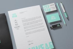 企业品牌VI设计办公文具样机模板v2 Corporate Branding / Identity Mock-up插图3