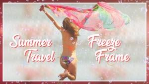 夏日旅行摄影后期处理添加相框PSD分层模板 Summer Travel Freeze Frame插图2