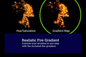 80款逼真火焰图形PS笔刷 80 Photorealistic Fire Explosions插图5